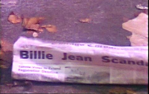 Zeitung mit Billie Jean Scandal in Michael Jackson Kurzfilm