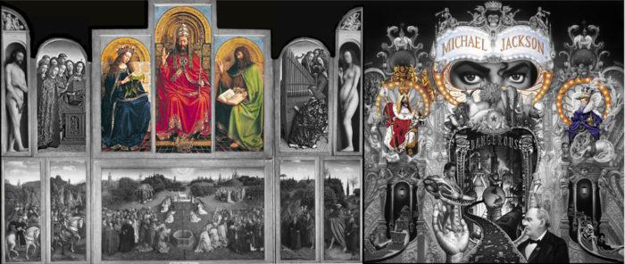 michael jackson dangerous album cover explained meaning erklärt symbols symbole bedeutung genter altarbild ingres van eycken