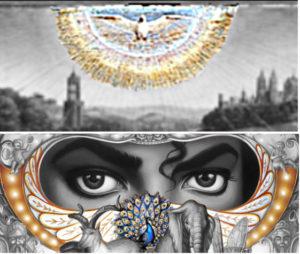 michael jackson dangerous album cover explaines meaning erklärt symbols symbole bedeutung genter altarbild van eycken taube pfau peacock