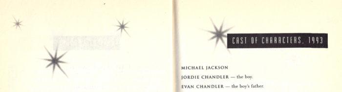All That Glitters Raymond Chandler Evan Chandler Jordan Chandler book Michael Jackson Cast of Characters