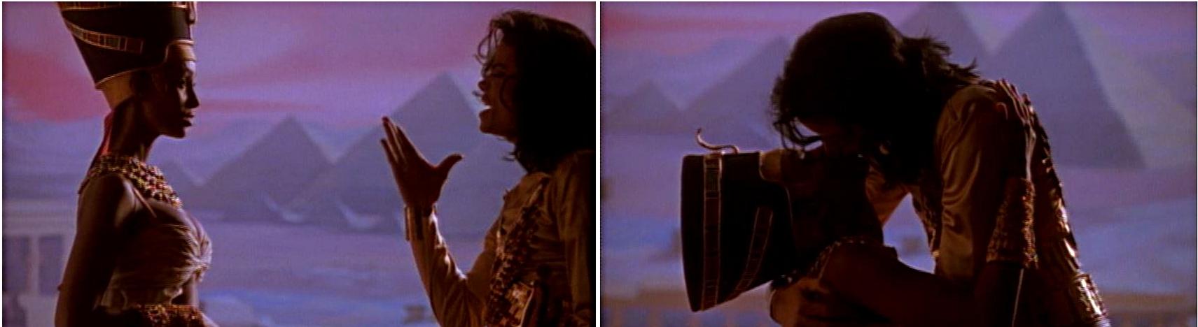 michael jackson dangerous album cover explained meaning erklärt symbols symbole bedeutung ryden art remember the time kiss egypt ägypten pharao queen