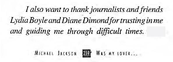 Danksagung Gutierrez in seinem Buch an Diane Dimond
