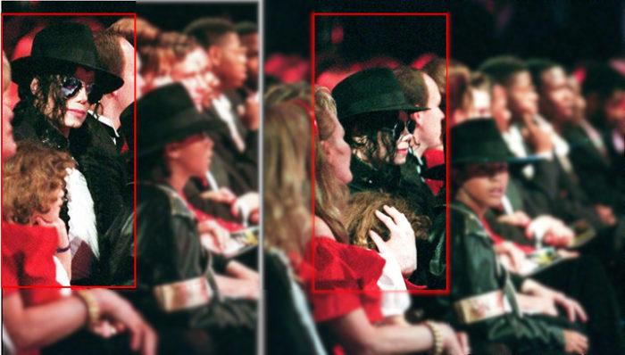 1993: Michael Jackson mit Lily Chandler auf den World Music Awards. (Bruder Jordan Chandler sitzt abseits.)