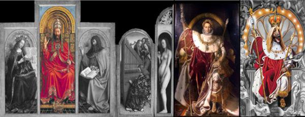 Michael Jackson Dangerous Album Cover Meaning Symbol Napoleon Genter Altarbild King of Pop erklärt Ingres