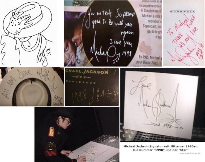 Michael Jackson Nummer 1998 Signatur Autogram Symbol Meaning
