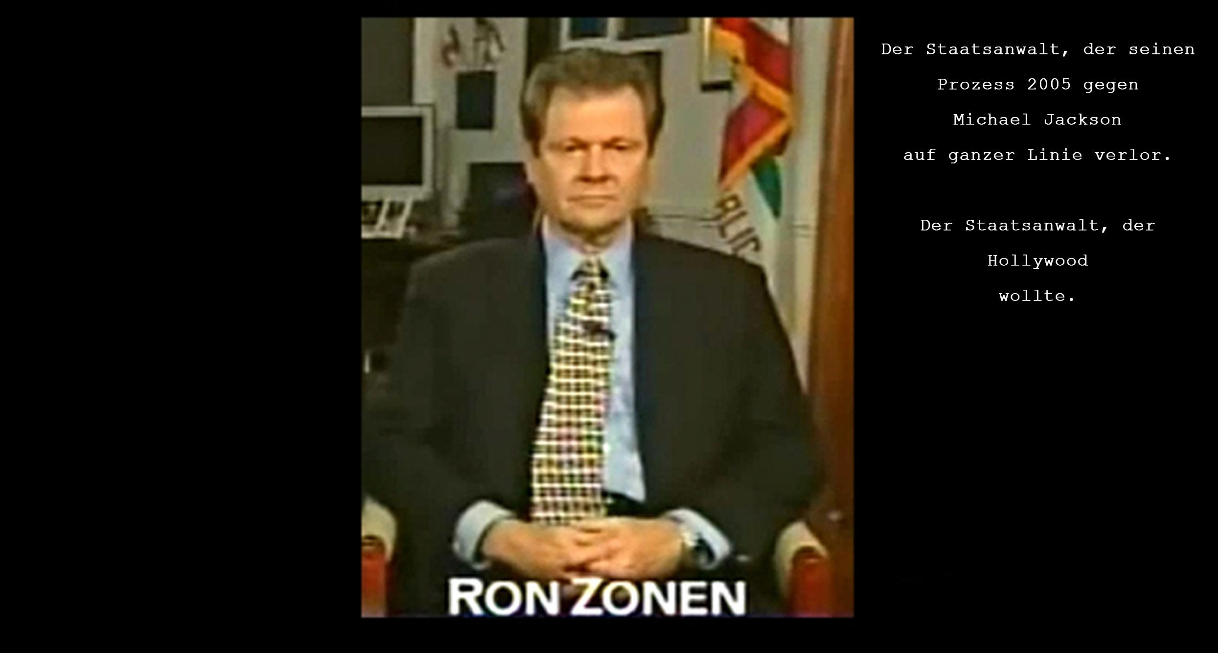 Staatsanwalt Ron Zonen verliert seinen Prozess gegen Michael Jackson 2005