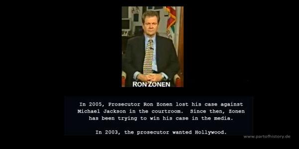 Prosecutor Ron Zonen lost his case against Michael Jackson
