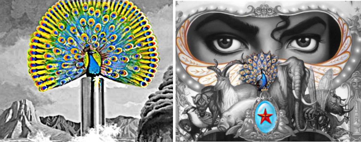 michael jackson dangerous album cover meaning explained erklärt bedeutung symbols symbole art ryden pfau peacock