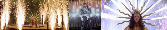 michael jackson dangerous album cover explained meaning erklärt symbols symbole bedeutung ryden art ludwig ivx sonnenkönig frankreich france gold sun jam live firework