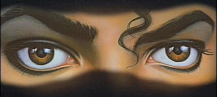 Michael Jackson Dangerous Cover Augen Stern