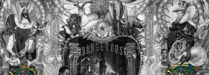Michael Jackson Dangerous album Cover explained erklärt art Bedeutung meaning Symbole Symbols ryden König Hund Dog Entrare Bird Queen Exitus