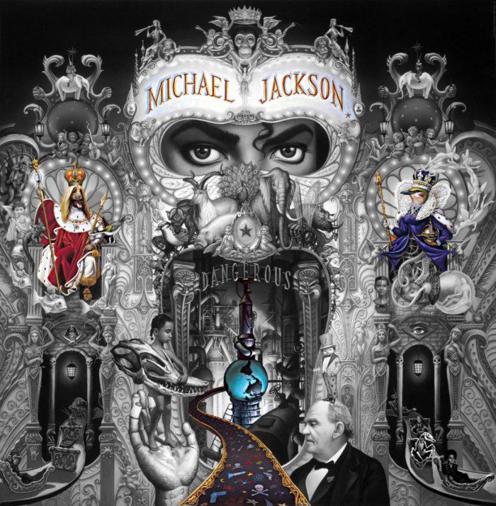 Michael Jackson Dangerous Album Cover explained erklärt art Bedeutung meaning Symbole Symbols ryden welt world king dog hund queen vogel bird
