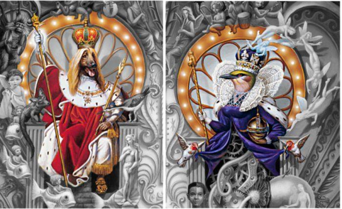 Michael Jackson Dangerous Cover Hundekönig Vogelkönigin King Queen Sonne Mond Tag Nacht