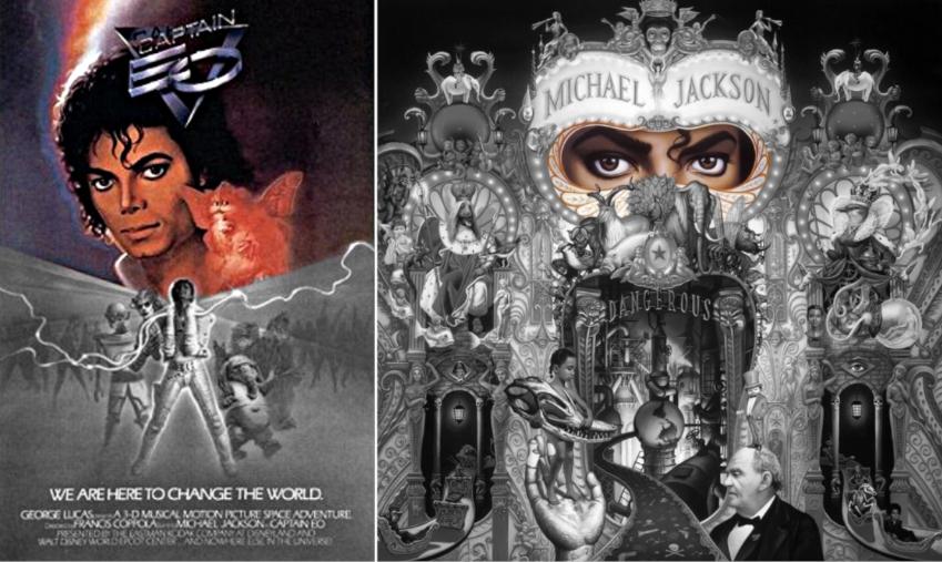 michael jackson dangerous album cover explained meaning erklärt symbols symbole bedeutung ryden art captain eo sun gold poster film