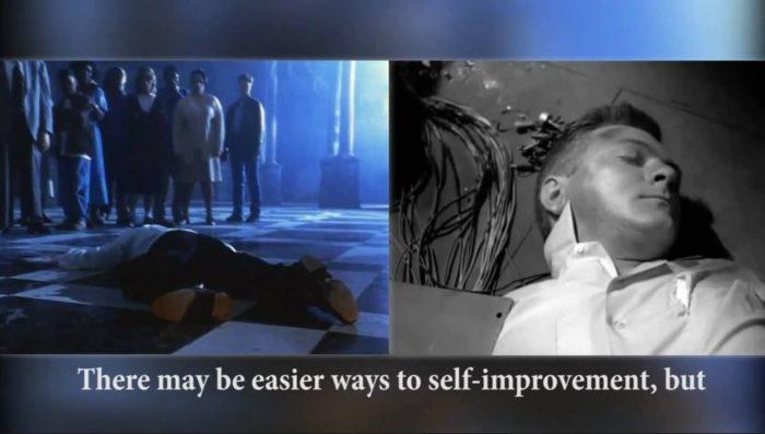 Bild links Maestro Jackson tot auf Boden in Ghosts Bild rechts Image Alan Talbot in Twilight Zone In his Image tot auf Boden